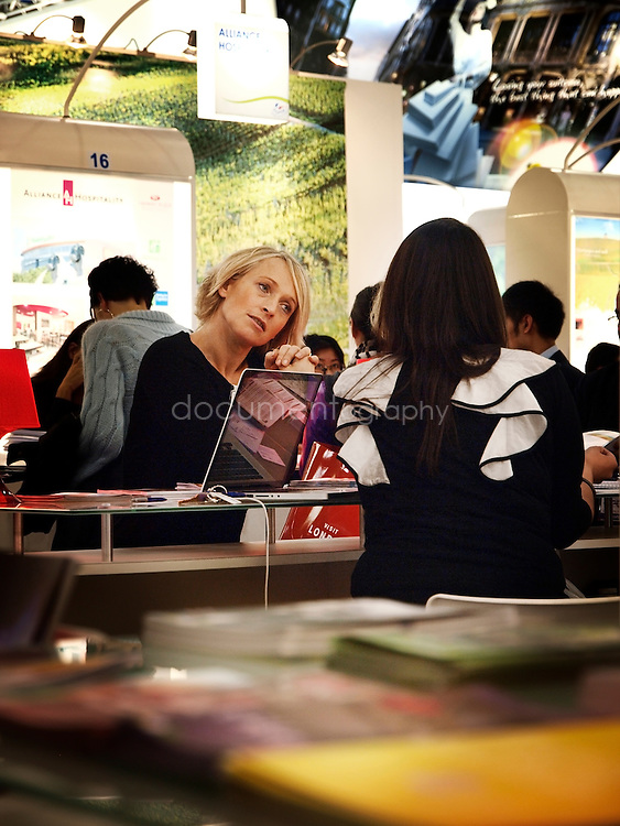 The french stand at the World Travel Market, ExCel, London, UK.