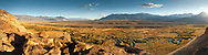 Panorama of the Owens River and the Owens Valley, near Bishop, Eastern Sierra, California