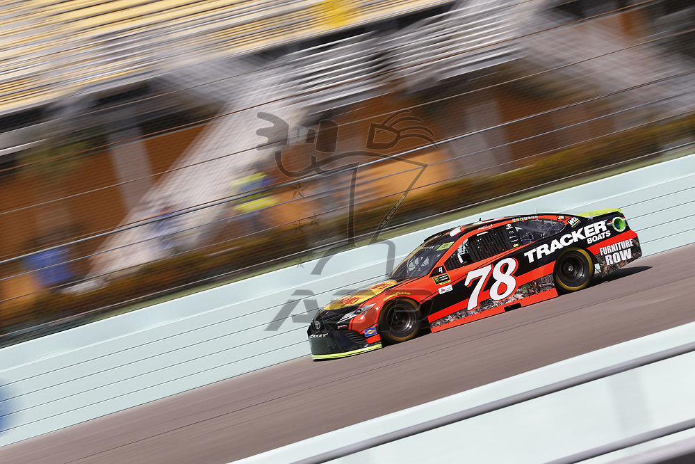 November 17, 2017 - Homestead, Florida, USA: Martin Truex Jr (78) takes to the track to practice for Ford EcoBoost 400 at Homestead-Miami Speedway in Homestead, Florida.