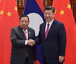 HANGZHOU, Sept. 2, 2016 (Xinhua) -- Chinese President Xi Jinping (R) meets with Laotian President Bounnhang Vorachit in Hangzhou, capital city of east China?s Zhejiang Province, Sept. 2, 2016. (Xinhua/Zhang Duo)(zkr) (Credit Image: © Zhang Duo/Xinhua via ZUMA Wire)