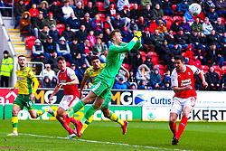 Marek Rodak of Rotherham United punches clear - Mandatory by-line: Ryan Crockett/JMP - 16/03/2019 - FOOTBALL - Aesseal New York Stadium - Rotherham, England - Rotherham United v Norwich City - Sky Bet Championship