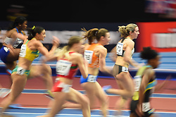 March 2, 2018 - Birmingham, England, United Kingdom - Cindy Roleder of Germany at 60 meter hurdles at World indoor Athletics Championship 2018, Birmingham, England on March 2, 2018. (Credit Image: © Ulrik Pedersen/NurPhoto via ZUMA Press)