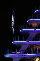 Launch of Royal Caribbean International's newest ship Allure of the Seas..Oceanaria, Aquatheatre show.