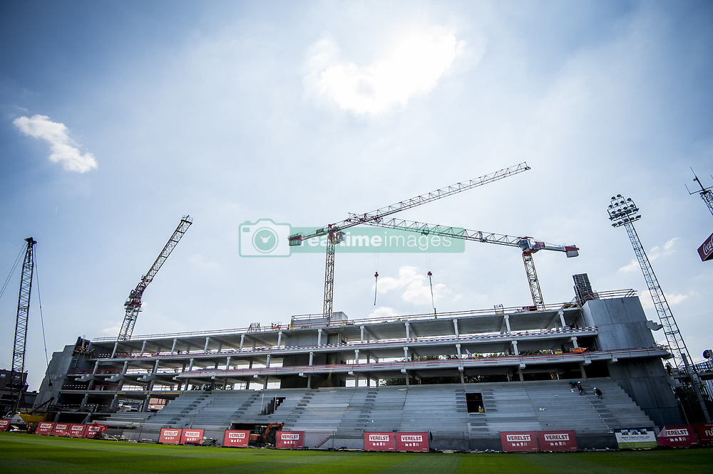 July 23, 2018 - Mechelen, BELGIUM - Illustration picture shows the construction of te new stadium ahead of the 2018-2019 season photo shoot of Belgian second division soccer team KV Mechelen, Monday 23 July 2018 in Mechelen. BELGA PHOTO JASPER JACOBS (Credit Image: © Jasper Jacobs/Belga via ZUMA Press)