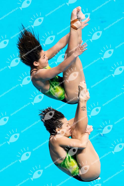 NG Yan Yee SABRI Nur Dhabitah Binti MAS <br /> Women's 3m Synchro springboard Final <br /> diving <br /> 17/07/2017 <br /> XVII FINA World Championships Aquatics<br /> Duna Arena Budapest Hungary <br /> Photo Andrea Staccioli/Deepbluemedia/Insidefoto