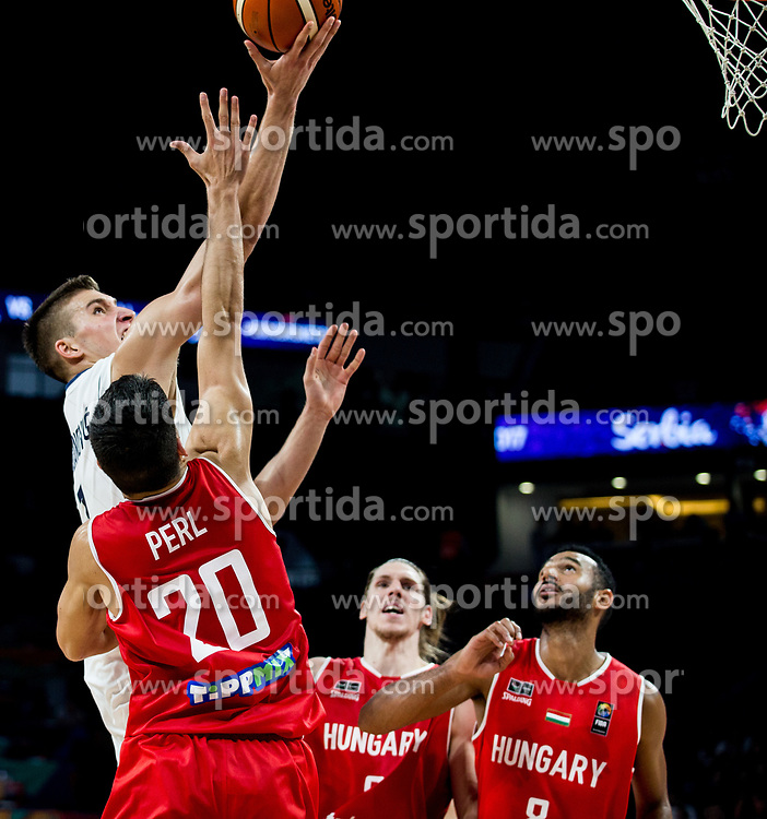 Bogdan Bogdanovic of Serbia vs Zoltan Perl of Hungary during basketball match between National Teams of Serbia and Hungary at Day 11 in Round of 16 of the FIBA EuroBasket 2017 at Sinan Erdem Dome in Istanbul, Turkey on September 10, 2017. Photo by Vid Ponikvar / Sportida