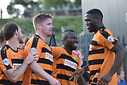 Michael Gash of Barnet celebrates scoring his second goal during the Sky Bet League 2 match between Barnet and Dagenham and Redbridge at Hive Stadium, London, England on 26 September 2015. Photo by Ian Lyall.
