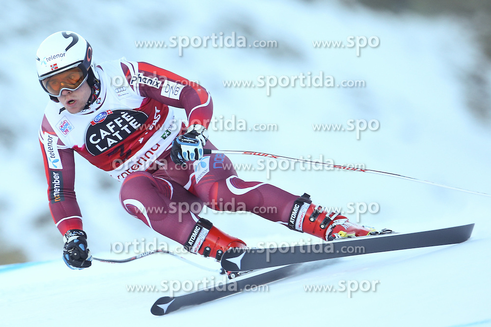 28.12.2015, Deborah Compagnoni Rennstrecke, Santa Caterina, ITA, FIS Ski Weltcup, Santa Caterina, Abfahrt, Herren, 2. Training, im Bild Aleksander Aamodt Kilde (NOR) // Aleksander Aamodt Kilde of Norway in action during the 2nd practice run of men's Downhill of the Santa Caterina FIS Ski Alpine World Cup at the Deborah Compagnoni Course in Santa Caterina, Italy on 2015/12/28. EXPA Pictures © 2015, PhotoCredit: EXPA/ Johann Groder