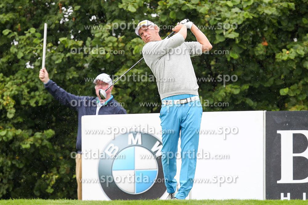 28.06.2014, Golf Club Gut Laerchenhof, Pulheim, GER, BNW International Golf Open, im Bild Marcel Siem (GER) am Abschlag, Tee // during the International BMW Golf Open at the Golf Club Gut Laerchenhof in Pulheim, Germany on 2014/06/28. EXPA Pictures &copy; 2014, PhotoCredit: EXPA/ Eibner-Pressefoto/ Kolbert<br /> <br /> *****ATTENTION - OUT of GER*****