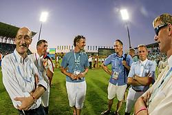Lammens Stefaan, BEL, Postelmans Peter, Philippaerts Ludo, Demeersman Dirk, Lansink Jos<br /> Olympic Games Athens 2004<br /> © Hippo Foto - Dirk Caremans<br /> 27/08/2004