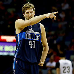 Dec 26, 2016; New Orleans, LA, USA;  Dallas Mavericks forward Dirk Nowitzki (41) against the New Orleans Pelicans during the second quarter of a game at the Smoothie King Center. Mandatory Credit: Derick E. Hingle-USA TODAY Sports