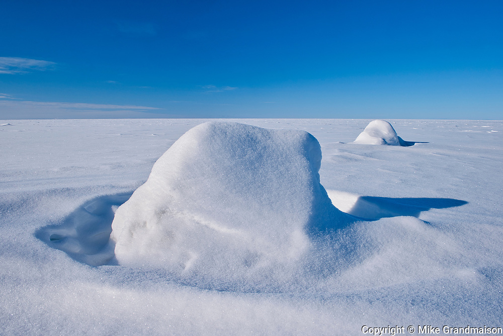 Ice and snow on Lake Winnipeg<br />VIctoria Beach<br />Manitoba<br />Canada