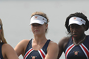 Beijing, CHINA, USA JW4-, Bow Christina FELIX, Rachaek OGUNDIGAN, Marha KUZZY and Ana KOHL. during the 2007. FISA Junior World Rowing Championships Shunyi Water Sports Complex. Wed. 08.08.2007  [Photo, Peter Spurrier/Intersport-images]..... , Rowing Course, Shun Yi Water Complex, Beijing, CHINA,