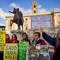 """""""Fermiamo l'Arabia Saudita"""" protesta a Roma"""