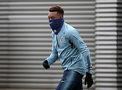 Chelsea's Callum Hudson-Odoi during the training session at Cobham Training Ground, London.