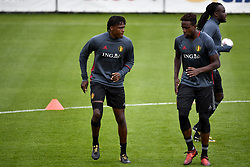 October 2, 2017 - Tubize, BELGIUM - Belgium's Dedryck Boyata and Belgium's Divock Origi pictured during a training of Belgian national soccer team Red Devils, Monday 02 October 2017 in Tubize. The Red Devils will play a World Championships 2018 Qualification game against Bosnia on October 7th and against Cyprus on October 10th. BELGA PHOTO DIRK WAEM (Credit Image: © Dirk Waem/Belga via ZUMA Press)