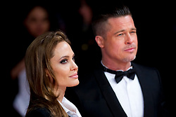 Brad Pitt and Angelina Jolie arriving at The EE British Academy Film Awards 2014, at the Royal Opera House, Bow Street, London