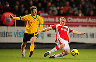 London - Saturday, January 3rd, 2009: Nicky Bailey of Charlton Athletic and Wesley Hoolahan of Norwich City during the FA Cup Third Round match at The Valley, London. (Pic by Alex Broadway/Focus Images)