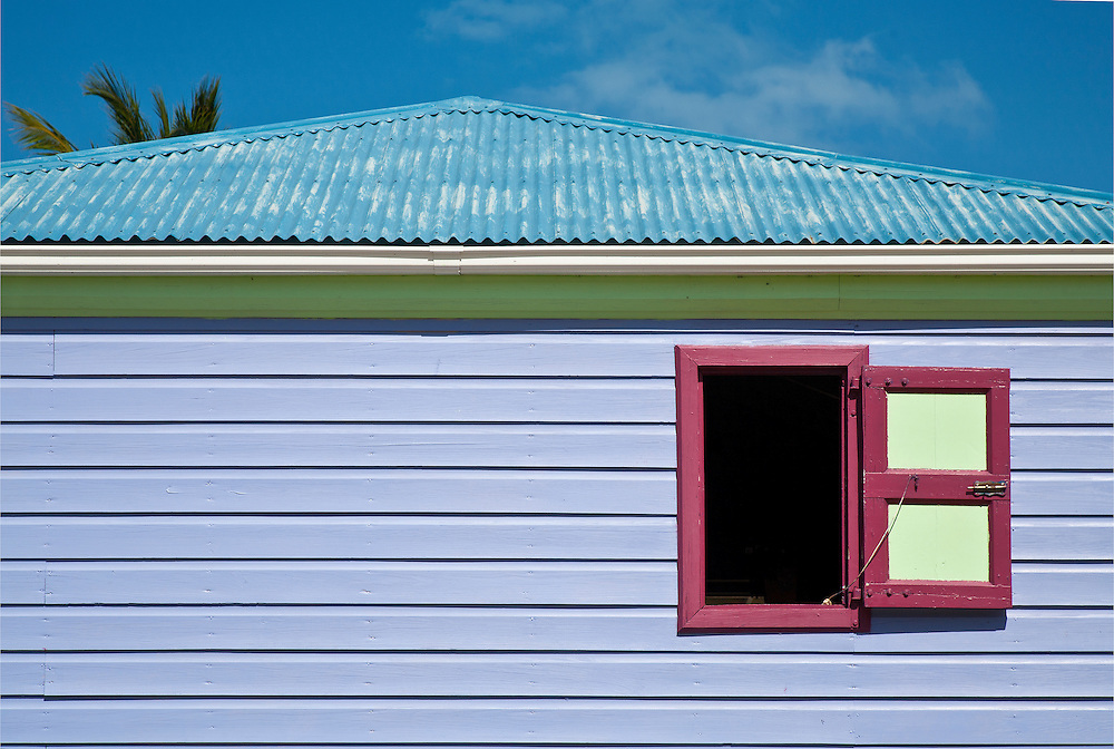 Jost Van Dyke British Virgin Islands BVI Caribbean color abstract window BVI palm tin roof