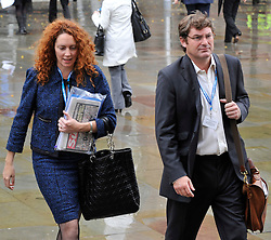 Rebekah Brooks, the chief executive of News International and former Sun editor with her Husband Charlie attend the Conservative Party Conference in Manchester, October 2009, Photo by Andrew Parsons/ i-Images