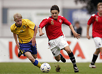 Fotball<br /> Landskamp G15<br /> Sverige v Norge 0:3<br /> Arvika<br /> 23.09.2010<br /> Foto: Morten Olsen, Digitalsport<br /> <br /> Kamer Qaka  -  Vålerenga
