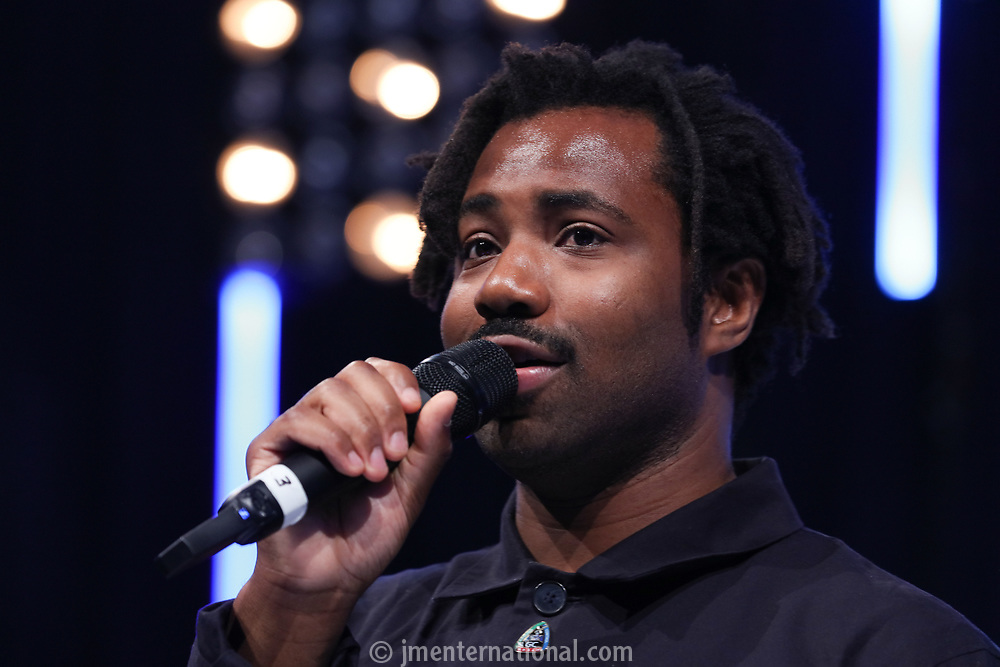 Sampha on stage during the O2 Silver Clef Awards 2019, Grosvenor House, London, UK, Friday 05 July 2019<br /> Photo JM Enternational