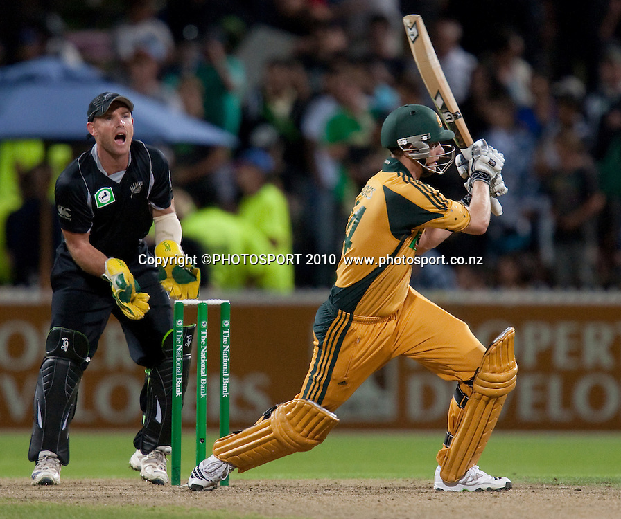 Adam Voges bats during the third one day Chappell Hadlee cricket series match between New Zealand Black Caps and Australia at Seddon Park, won by Australia by 6 wickets in Hamilton, New Zealand. Tuesday 9 March 2010. Photo: Stephen Barker/PHOTOSPORT