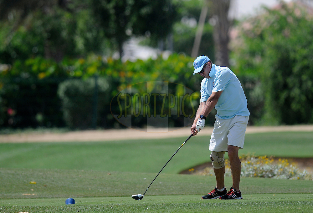 Eric Simons during the Pepsi Indian Premier League 2014 golf day held at the Ernie Els Club at Sports City , Dubai, United Arab Emirates on the 20th April 2014<br /> <br /> Photo by Pal Pillai  / IPL / SPORTZPICS