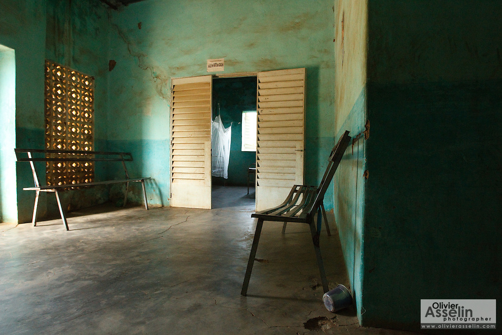 Waiting room at the Kassaro community health center in the village of Kassaro, Mali on Saturday August 28, 2010.