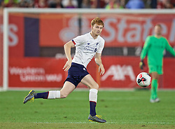 NEW YORK, NEW YORK, USA - Wednesday, July 24, 2019: Liverpool's Sepp van den Berg makes his debut as a substitute during a friendly match between Liverpool FC and Sporting Clube de Portugal at the Yankee Stadium on day nine of the club's pre-season tour of America. (Pic by David Rawcliffe/Propaganda)