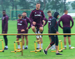25.07.2017, Trainingsplatz TuS Bothel, Bothel, GER, Trainingslager, West Ham United, im Bild Marco Arnautovic // during a trainingsession at the trainingscamp of the English Premier League Football Club West Ham United at the Trainingsplatz TuS Bothel in Bothel, Germany on 2017/07/25. EXPA Pictures &copy; 2017, PhotoCredit: EXPA/ Andreas Gumz<br /> <br /> *****ATTENTION - OUT of GER*****