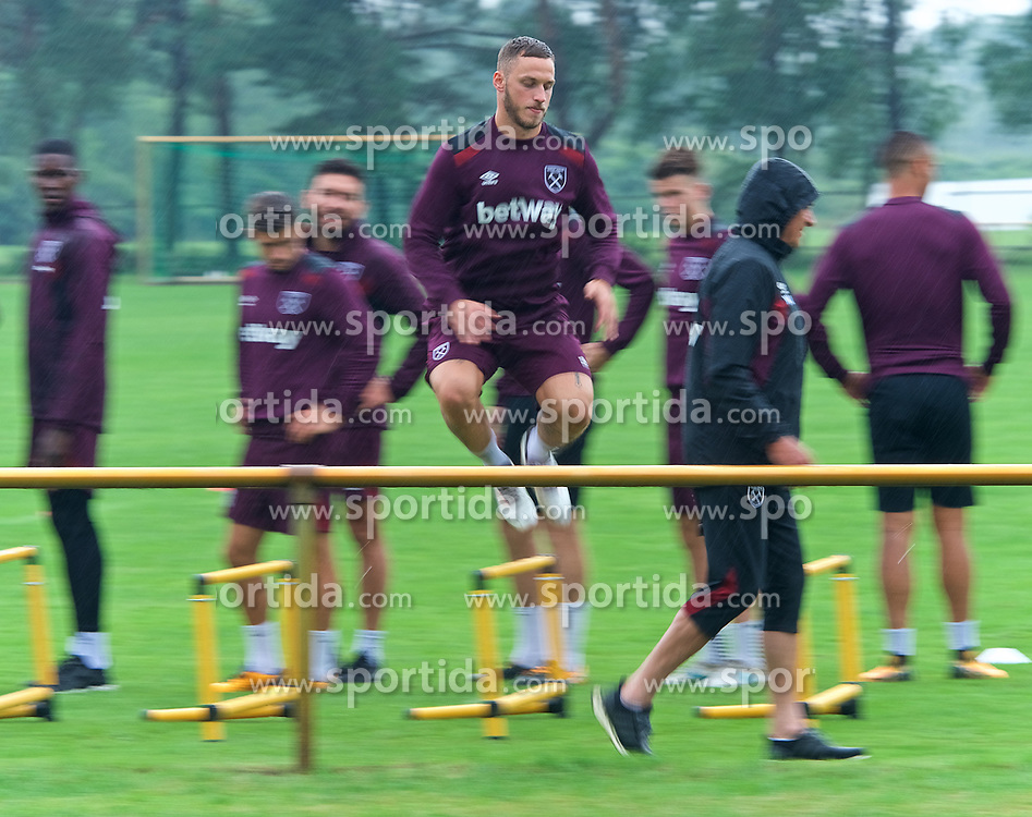 25.07.2017, Trainingsplatz TuS Bothel, Bothel, GER, Trainingslager, West Ham United, im Bild Marco Arnautovic // during a trainingsession at the trainingscamp of the English Premier League Football Club West Ham United at the Trainingsplatz TuS Bothel in Bothel, Germany on 2017/07/25. EXPA Pictures © 2017, PhotoCredit: EXPA/ Andreas Gumz<br /> <br /> *****ATTENTION - OUT of GER*****