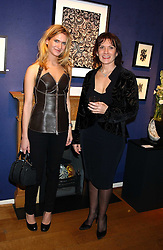 Left to right, EMILY LOBEL and her mother artist ALY BROWN at a private view sculptures, drawings and Maquettes by Aly Brown held at Lucy B Campbell Fine Art, 123 Kensington Church Street, London W8 on 22nd November 2005.<br />