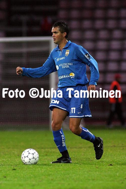 02.10.2003, Pori, Finland..Veikkausliiga 2003 / Finnish League 2003.FC Jazz v Myllykosken Pallo-47.Marco Manso - MyPa.©Juha Tamminen