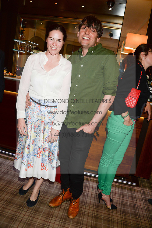 ALEX & CLAIRE JAMES at the Blue Monday Cheese Launch presented by Alex James and held at The Cadogan Hotel, Sloane street, London on 11th June 2013.