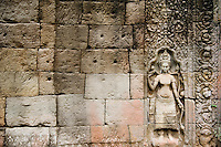 Relief Sculpture in Ancient Temple