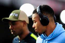 Gabriel Jesus of Manchester City arrives at Rodney Parade prior to kick off - Mandatory by-line: Ryan Hiscott/JMP - 16/02/2019 - FOOTBALL - Rodney Parade - Newport, Wales - Newport County v Manchester City - Emirates FA Cup fifth round proper