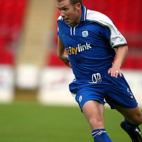 St Johnstone stock...Season 2002-2003<br />Craig Russell<br /><br /><br />Pic by Graeme Hart<br />Copyright Perthshire Picture Agency<br />Tel: 01738 623350 / 07990 594431