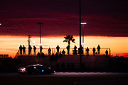 January 22-26, 2020. IMSA Weathertech Series. Rolex Daytona 24hr. #47 Precision Performance Motorsports (PPM) Lamborghini Huracan GT3, GTD: Brandon Gdovic, Eric Lux, Mark Kvamme, Jonathan Hoggard  Spectators at sunrise