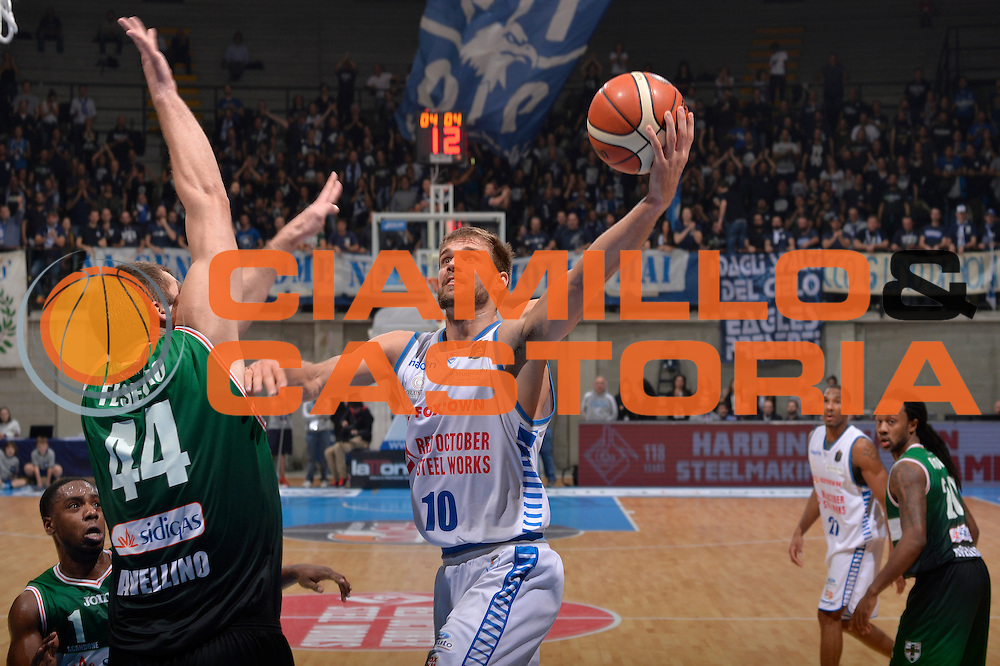 Fran Pilepic<br /> Red October Pallacanestro Cantu - Sidigas Scandone Avellino<br /> Lega Basket Serie A 2016/2017<br /> Desio, 12/12/2016<br /> Foto Ciamillo-Castoria