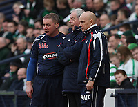 CIS Cup Final<br /> Celtic v Rangers<br /> Hampden Park<br /> Glasgow<br /> <br /> Rangers management team  Ally McCoist, Walter Smith and kenny MacDowell<br /> 15/03/2009 Credit Colorsport / Ian MacNicol