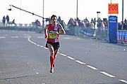 Chris Thompson (GBR) leads by far during The Great South Run in Southsea, Portsmouth, United Kingdom on 23 October 2016. Photo by Jon Bromley.