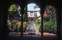 Generalife gardens at the Alhambra; Granada,