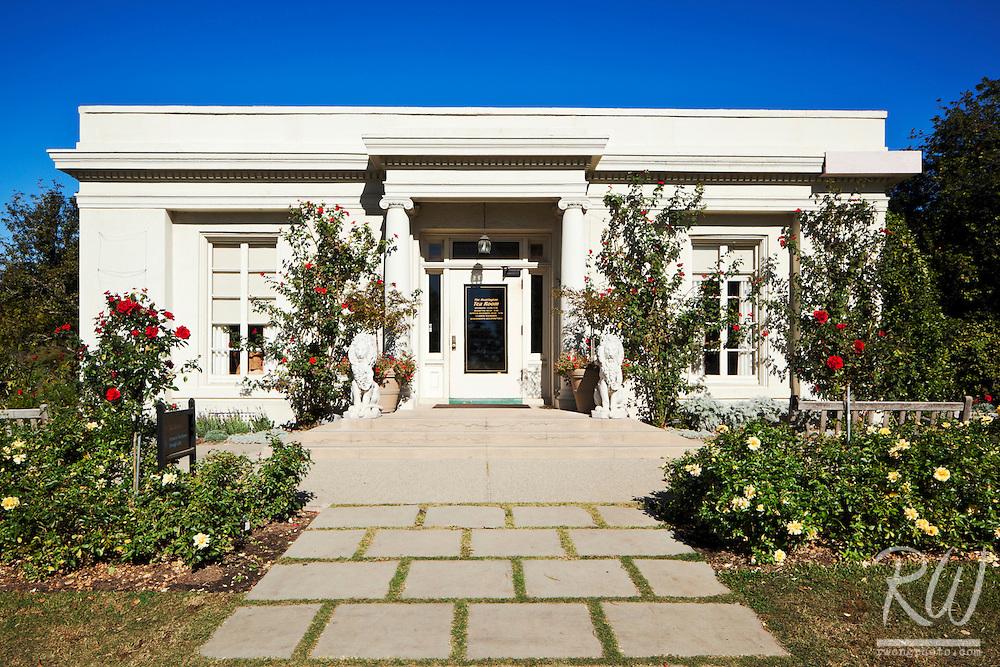 Tea Room in Rose Garden at The Huntington, San Marino, California
