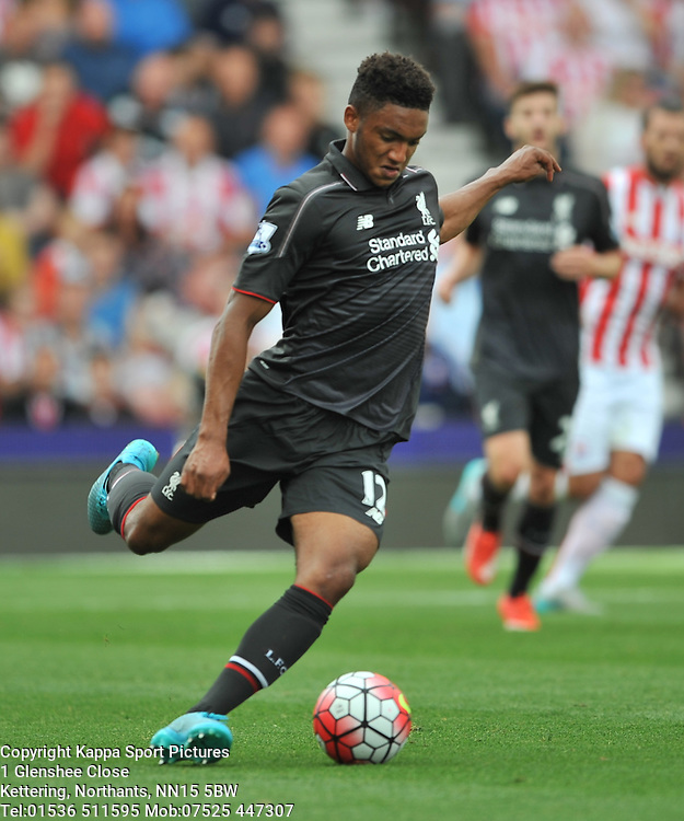 JOSE GOMEZ LIVERPOOL, Stoke City v Liverpool, Premiership, Britannia Stadium Sunday 9th August 2015