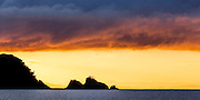 Sunrise. Early winter morning exploration of Otata Island, Hauraki Gulf, Auckland, New Zealand.