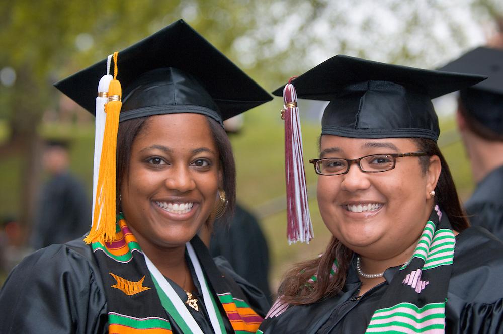 18945Undergraduate Commencement 2008..Candice Montgomery(left) & Stephanie Kimber
