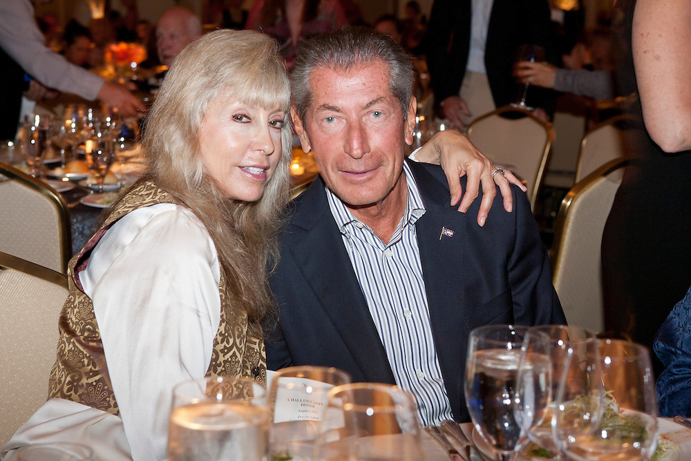 Couple seated at table: Golda and Shelly Friedstein