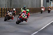 Glenn IRWIN, TAK CHUN Racing by PBM/Penz13, Ducati leads Peter HICKMAN, SMT / Bathams by MGM Macau, BMW<br /> <br /> 64th Macau Grand Prix. 15-19.11.2017.<br /> Suncity Group Macau Motorcycle Grand Prix - 51st Edition<br /> Macau Copyright Free Image for editorial use only