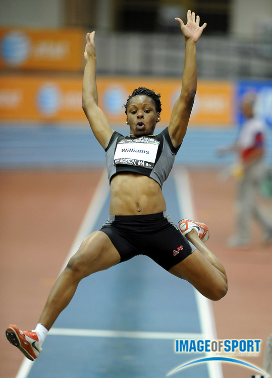Feb 23, 2008; Boston, MA, USA; April Williams was 10th in the women's long jump at 19-4 1/4 (5.90m) in the AT&T USA Track & Field Indoor Championships at the Reggie Lewis Center.